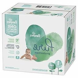 Size 1, 198 Count - Pampers Pure Disposable Baby Diapers, Hy