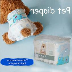 10 Pcs Disposable Dog Diapers-Super Absorbent Soft Pet Pant