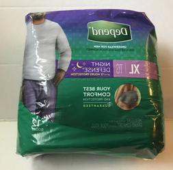 12 Depends For Men Overnight Diapers XL Adult Underwear Brie