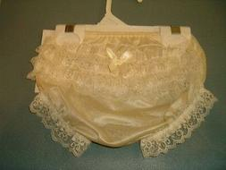 """2-3T """"Boutique"""" Ivory Rhumba Lace Rear Diaper Cover Panty"""