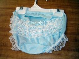 """2-3T """"Boutique"""" Lt Blue Rhumba Lace Diaper Cover Panty Blo"""