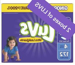 LUVS 2 boxes of Ultra Leakguards Diapers Size 4, 172 Count.