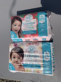 NEW The Honest Company Gentle Diapers, Size 2-#32 And Size