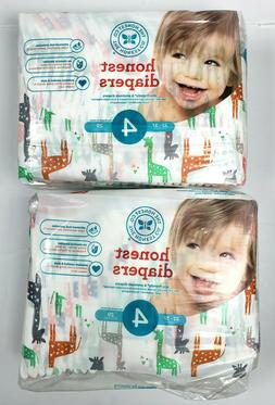 2 Packs The Honest Company Diapers Size 4  29ea. 58 Total 22