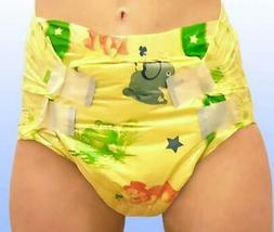 *2 PC* MyDiaper Yellow Night Adult Plastic Diaper Baby nappy