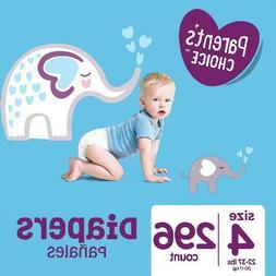296 Count Baby Diapers Size 4 Mega Box Comfort Hypoallergeni