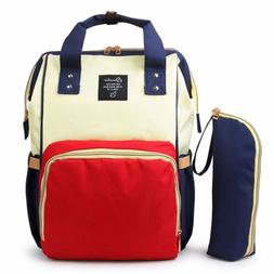2PCS Diaper Bag Backpack Nappy Baby Boys Girls Mommy Tote Mo