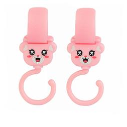 2x Pink Clip Hooks for Safety 1st Baby Child Strollers Hang