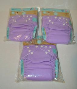 Charlie Banana 3 Diapers 6 inserts Unisex Lavender One Size