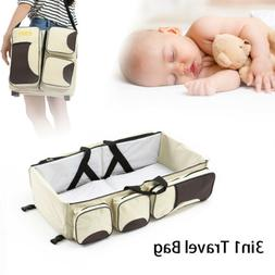 3 in 1 Diaper Bag Multi-function Baby Bed Crib Nappy Changin