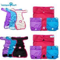 3ct Paw Inspired Washable Dog Diapers | Reusable Female Diap