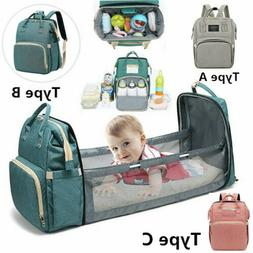 3in1 Foldbale Diaper Bag Baby Bed Portable Bassinet Crib Bac
