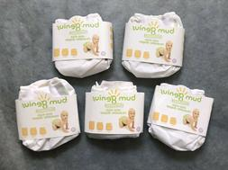 5 BumGenius Organic OS - One Size Diapers New in Pkg