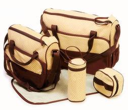 5 Piece BABY DIAPER BAG, & PAD      Large & Medium Size Bags