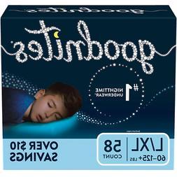 58 Count GoodNites Bedtime Underwear for Boys L/xl Kids Slee