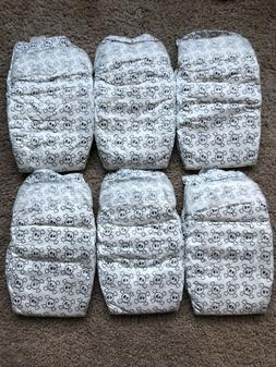 6 HONEST Diapers SIZE 2 Baby Reborn Doll Skull Print