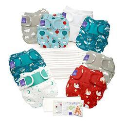Bambino Mio, Miosoft Cloth Diaper Birth to Potty Pack, Dream