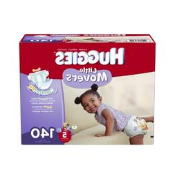 Huggies Little Movers Diapers Economy Plus, Size 5, 140 Coun