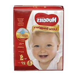 Huggies Little Snugglers Baby Diapers, Size 3, 27 Count, JUM