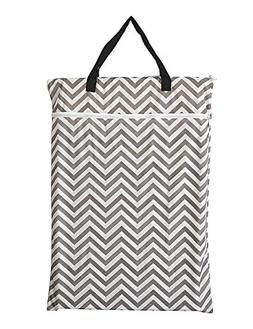 Large Hanging Wet/dry Cloth Diaper Pail Bag for Reusable Dia