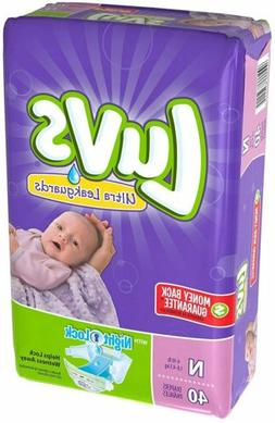 Luvs Newborn Ultra Leakguards Diapers, 40 Count