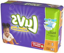 Luvs with Ultra Leakguards, Size 3 Diapers, 34 ea