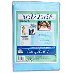 NorthShore Premium, 17 x 24, 8 oz, Blue Disposable Underpads