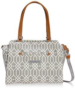 Petunia Pickle Bottom Statement Satchel Diaper Bag in Quartz
