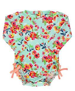 RuffleButts Baby/Toddler Girls Long Sleeve One Piece Swimsui