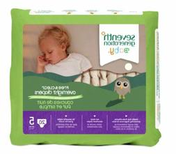 Seventh Generation Baby Overnight Diapers, Free & Clear, Sta