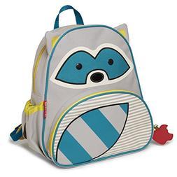 """Skip Hop Toddler Backpack, 12"""" Raccoon School Bag, Multi."""