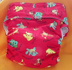Adult All In One Reusable Super Absorbent Cloth Diaper S,M,L
