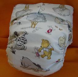 Adult All InOne Reusable Super Absorbent Cloth Diaper S,M,L,