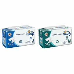 Belux Adult Diapers M/L - 30 Count Unisex Disposable ADULT D