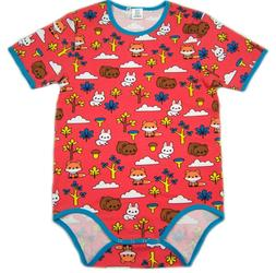 Adult Forest baby animal bodysuit romper red color autistic
