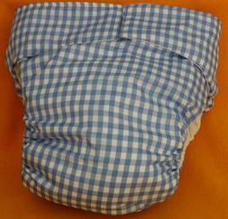 Adult New Reusable Super Absorbent Cloth Diaper S,M,L,XL Blu