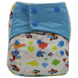 AIO Reusable Washable Cloth Diaper Nappy Charcoal Bamboo Ins