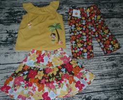 Gymboree Aloha Sunshine 2T Skirt Diaper Cover, top Capri Out