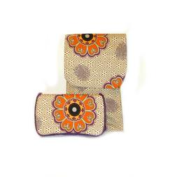 Antique Flower Diaper clutch and baby wipes case