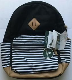 Baby Boom Diaper Bag Travel Backpack 6 Pockets Black/White B
