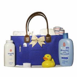 Baby Boy Blue Diaper Caddy Newborn Shower Gift Large in Size