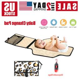 Baby Changing Diaper Pad Fold able Outdoor Clean Waterproof