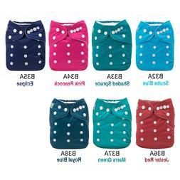 ALVA Baby Cloth Diapers Adjustable Solid Color Reusable Napp