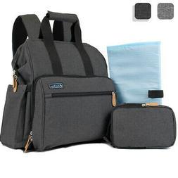 Baby Diaper Backpack Bag Travel Set Bottle Holder Changing P