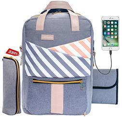 Baby Diaper Bag Backpack Slonser Large Designer Multifunctio