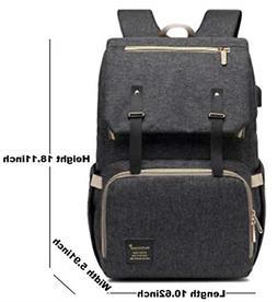 Baby Diaper Bag Backpack, Waterproof Nappy Bag, Spacious Tra