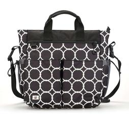 Unisex Baby Diaper Bag :: Extra Large Zippered Tote with 13