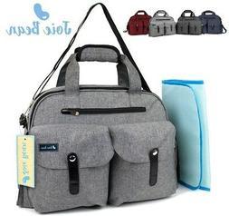 Baby Diaper Bag Tote Large Travel Nappy Changing Mat Messeng