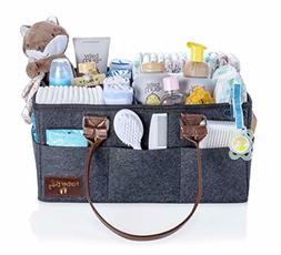 Baby Diaper Caddy Nursery Organizer - Baby Shower Gift Baske