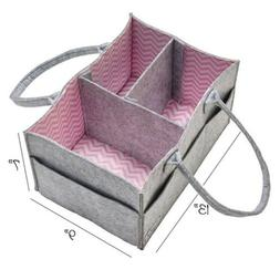 Baby Diaper Caddy organizer 13X9X7 inch storage bin pink gir